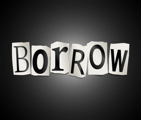 Borrow concept.