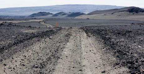Strada sterrata in Islanda