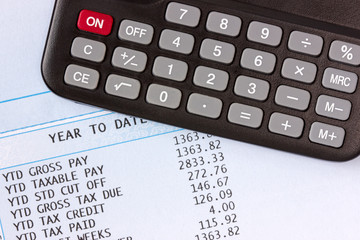 Calculator and payroll