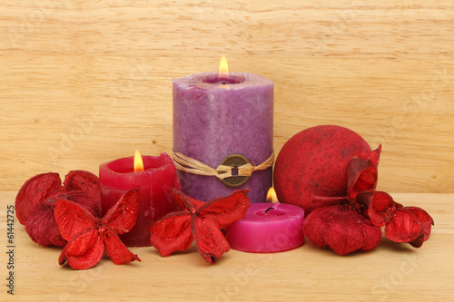 Candles and potpourri