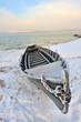boat in winter time
