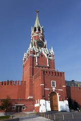Spasskaya tower of the Moscow Kremlin. Moscow. Russia
