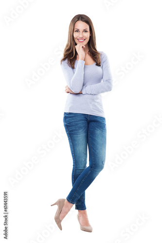 Attractive woman standing