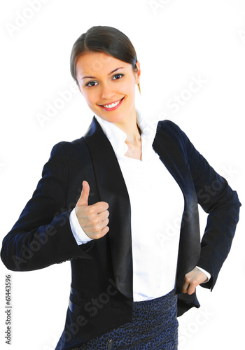 Beautiful smiling business woman