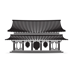 Japanese and china temple symbol