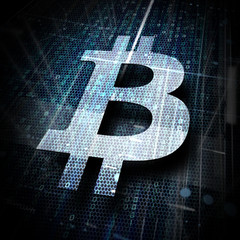 digitales Bitcoin-Symbol