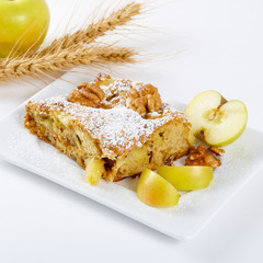 slice of tasty homemade apples pie