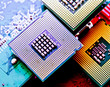 Leinwanddruck Bild - computer cpu (central processor unit) chip
