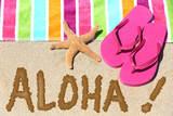 Hawaii beach travel concept - ALOHA