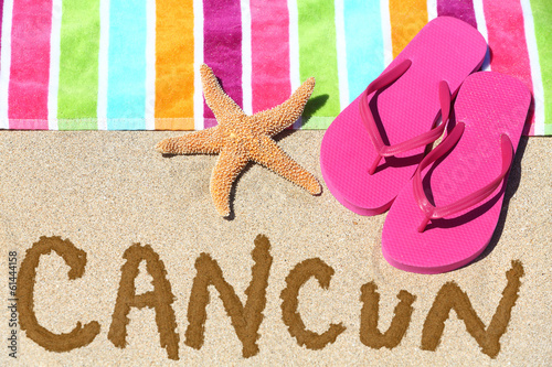 Cancun, Mexico beach travel background