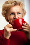 Grandmother and cup of tee