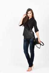 elegant in jeans