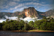 Leinwanddruck Bild - Angel Falls in the morning light
