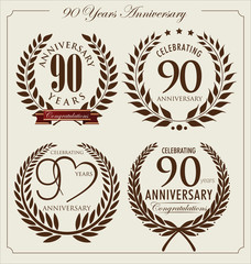 Anniversary laurel wreath, 90 years