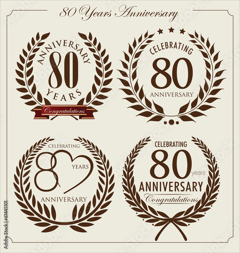 Anniversary laurel wreath, 80 years
