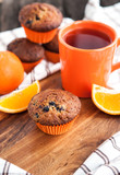 Fresh orange berry muffins