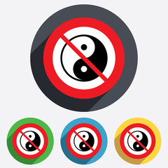 No Ying yang sign icon. Harmony and balance.