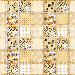 Patchwork squares seamless pattern texture background
