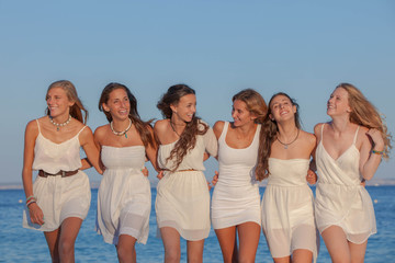 group of young confident women
