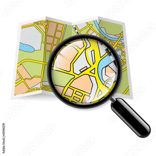 Map booklet with zoom
