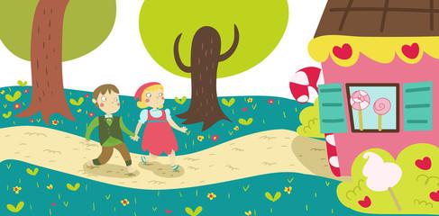 Hansel e Gretel illustrazione favola