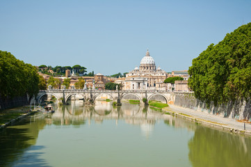 Saint Peter's Basilica. Rome Italy.