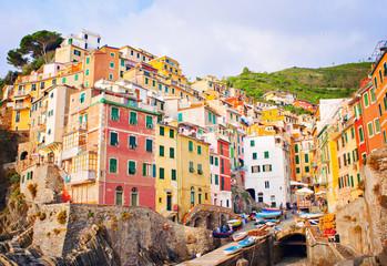 Colorful Riomaggiore village, Italy