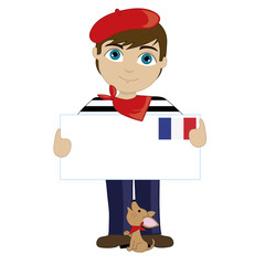 French Boy Sign