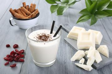 frullato cioccolato bianco e latte