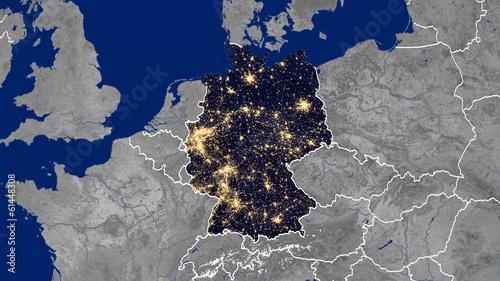 Leinwandbild Motiv Germany - Night
