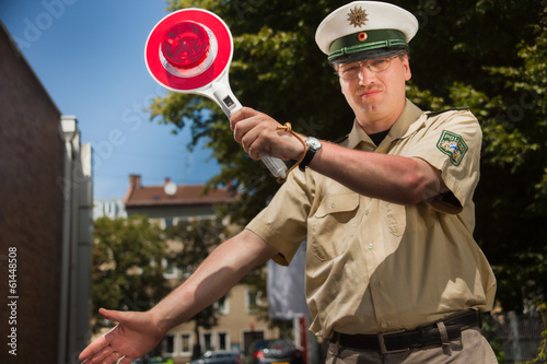 canvas print picture polizeikontrolle