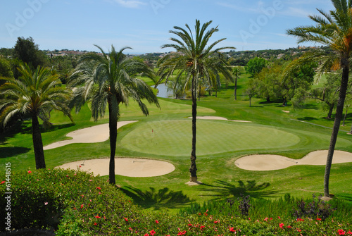 Fotobehang Golf Golf course in Marbella Golf valley