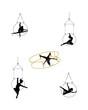 aerial ring and hoop dancers