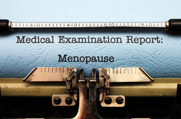 Medical report - menopause
