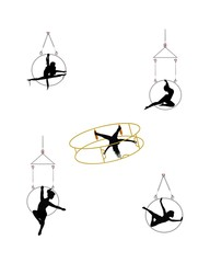 aerial ring and hoop dancers