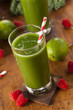 Healthy Green Vegetable and Fruit Smoothi Juice