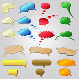 Vector colored speech bubbles
