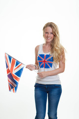 person with union flag