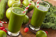 Healthy Green Vegetable and Fruit Smoothi Juice - 61449390