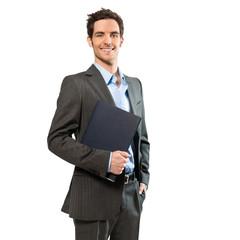 Geschäftsmann mit Bewerbungsmappe