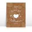 holiday brochure with vintage pattern. valentines day