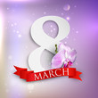 8 march. Women's Day greeting card