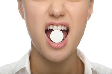 Big tablet in the teeth of women