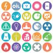 Energy Icon set flat circle