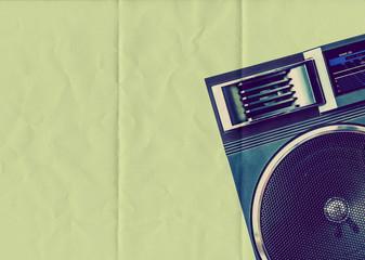 speaker folded paper