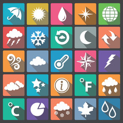 Weather icon set flat