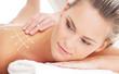 A healthy woman getting alternative massage treatment