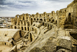 Types of Roman amphitheatre in the city of El JEM in Tunisia
