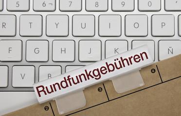 Rundfunkgebühren. Tastatur