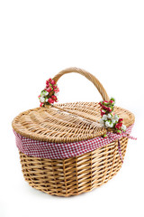 Cesta picnic decorada